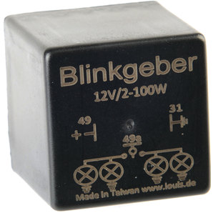 FLASHER RELAY, 12 V