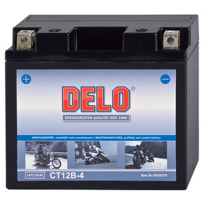 DELO Mikrovlies-Batterie befüllt und verschlossen Delo Motorrad