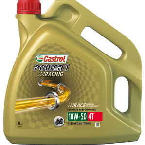 buy castrol power1 racing 4t engine oil fully synthetic 10w 50 louis motorcycle leisure. Black Bedroom Furniture Sets. Home Design Ideas