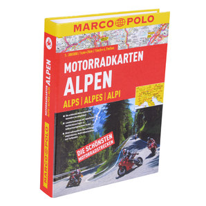 MARCO POLO Motorbike Travel Map Alps