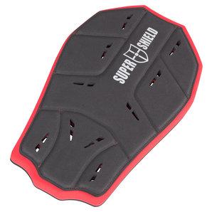 Super Shield HTP-Rückenprotektor 5 Schwarz Rot Motorrad