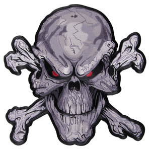 SKULL SEW-ON BADGE