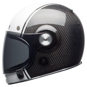 Bell Motorcycle Helmet >> Bell Bullitt Carbon Pierce Black White