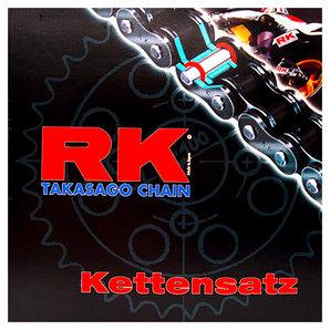 RK Kettensätze mit farbigen Ketten Kette- Ritzel- Kettenrad Motorrad