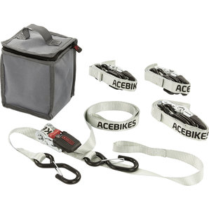 Acebikes Zurrgurt-Set mit integrierten Schlaufen für Scooter Motorrad