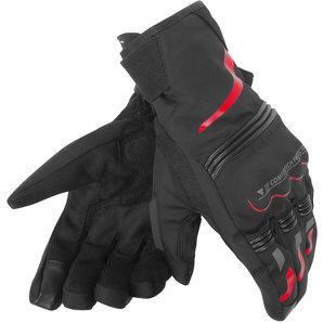 Dainese Tempest D-Dry Handschuhe Schwarz Rot Motorrad