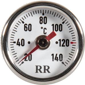 RR-Öltemperatur-Direktanzeiger für viele Fahrzeuge- Zifferblatt weiss RR Motorrad
