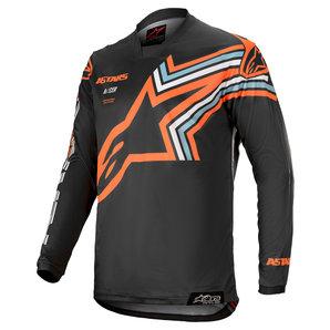 Alpinestars Racer Braap Crossshirt Grau Orange alpinestars Motorrad