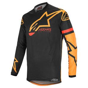 Alpinestars Racer Tech Compass Crossshirt Schwarz Orange alpinestars Motorrad