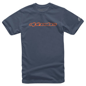 Alpinestars Wordmark T-Shirt Blau alpinestars Motorrad