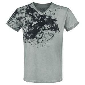 Black Premium Heavy Soul T-Shirt Grau Motorrad