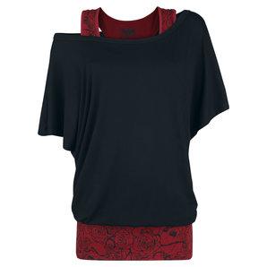 Black Premium Rules Damen T-Shirt Schwarz Bordeaux Motorrad