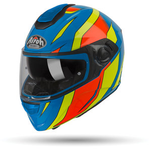 Airoh ST 301 Tide Azure Gloss Integralhelm Blau Gelb Rot Motorrad