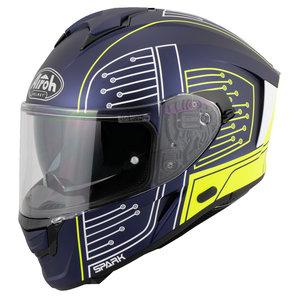 AIROH SPARK Matt Blau Gelb Weiss Airoh Motorrad