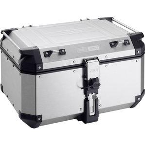 Givi Trekker Aluminium Top-Case Silber- 58 Liter- Monokey Motorrad