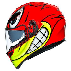 AGV K3 SV Birdy Integralhelm Rot Gelb Schwarz Motorrad