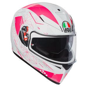 AGV K3 SV Izumi Integralhelm Weiss Pink Motorrad