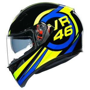 AGV K3 SV Ride 46 Integralhelm Schwarz Blau Gelb Motorrad