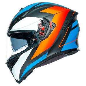 AGV K5 S Core- Integralhelm Matt Schwarz Orange Blau Motorrad
