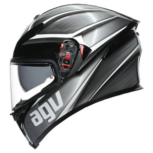 AGV K5 S Tempest- Integralhelm Schwarz Silber Motorrad