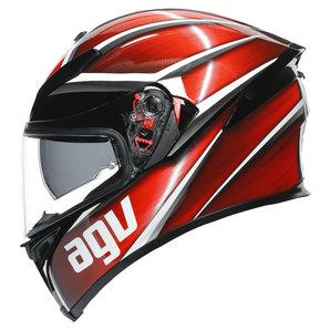 AGV K5 S Tempest- Integralhelm Schwarz Rot Weiss Motorrad