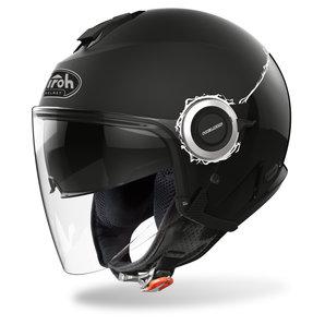 Airoh Helios Black Gloss-Matt- Jethelm Schwarz Motorrad