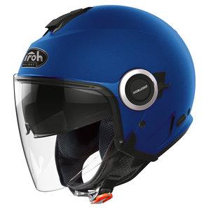 Airoh Helios Jethelm Matt Blau Motorrad