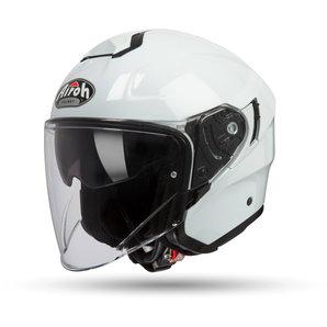 Airoh Hunter Color White Gloss Jethelm Weiss Uni Motorrad