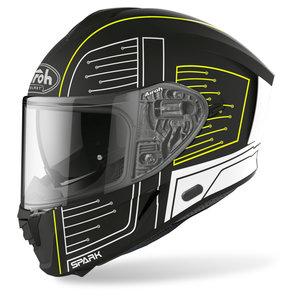Airoh Spark Cyrcuit Black Matt- Integralhelm Schwarz Weiss Gelb Motorrad