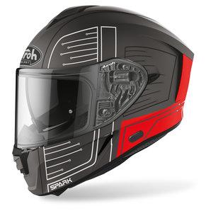 Airoh Spark Cyrcuit Red Matt- Integralhelm Schwarz Rot Weiss Motorrad