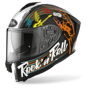 Airoh Spark Rock N Roll Black Gloss- Integralhelm Motorrad