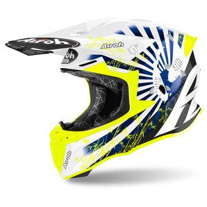Airoh Twist 2-0 Katana Blue Gloss- Crosshelm Motorrad