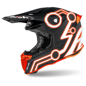 Airoh Twist 2-0 Neon Orange Matt- Crosshelm Matt Schwarz Motorrad