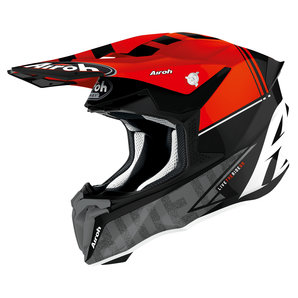 Airoh Twist 2-0 Tech Matt Orange Crosshelm  Rot Schwarz Grau Weiss Motorrad