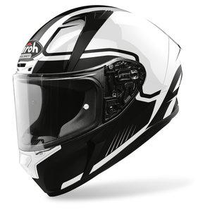 Airoh Valor Marshall White Gloss- Integralhelm Schwarz Weiss Motorrad
