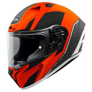 Airoh Valor Wings Integralhelm Matt Orange Weiss Schwarz Motorrad