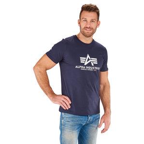 Alpha Industries Basic T T-Shirt Blau Motorrad