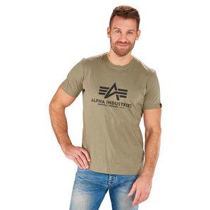 Alpha Industries Basic T T-Shirt Oliv Motorrad