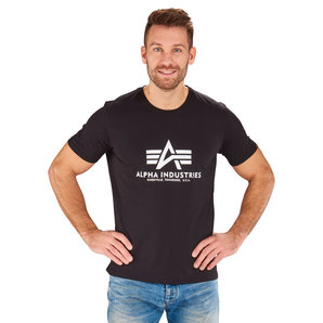 Alpha Industries Basic T T-Shirt Schwarz Motorrad