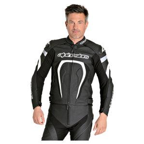 Alpinestars Kombijacke Leder Schwarz Weiss alpinestars Motorrad