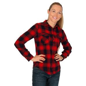 Brandit Amy Flanell Bluse Rot Schwarz Motorrad