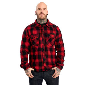 Brandit Check Hemd Rot Schwarz Motorrad