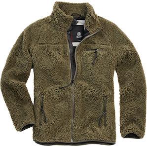 Brandit Teddyfleece Jacke grün M