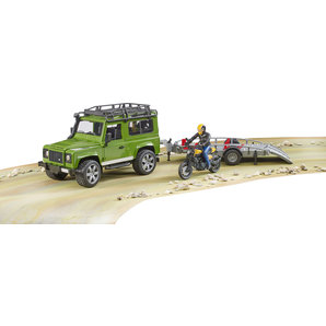 Land Rover Defender with trailer