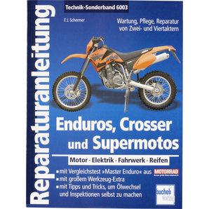 Bucheli Reparaturanleitung Enduros- Crosser und Supermotos- 176 S- Motobuch Verlag Motorrad