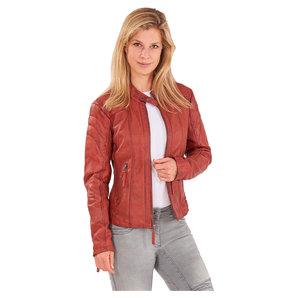 Cafe Racer Fashion III Damenlederjacke Rot Motorrad