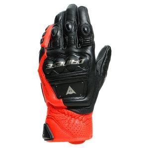 Dainese 4-Stroke 2 Handschuhe Schwarz Neon Rot Motorrad