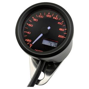 Daytona Velona48 Tachometer 200 km-h schwarz Corporation Motorrad