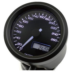 Daytona Velona48 Tachometer 260 km-h schwarz Corporation Motorrad