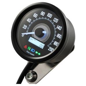 Daytona Velona 60 Tachometer 200 km-h schwarz Corporation Motorrad